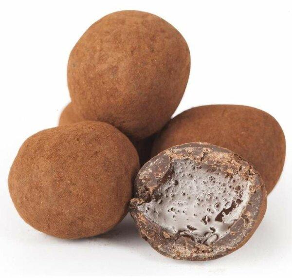 Turkish Delight Atom-Kugeln mit Schokolade umhüllt von Mokka-Kaffee