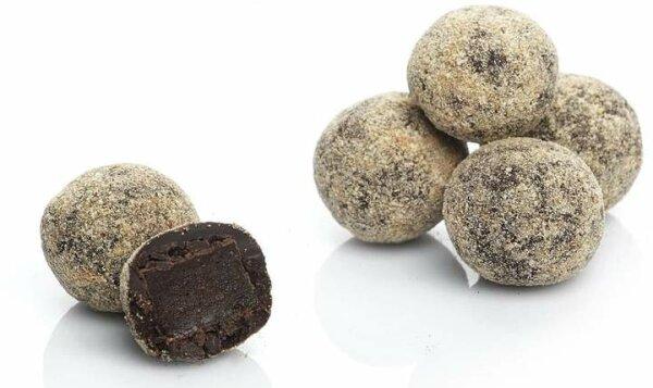 Turkish Delight Atom-Kugeln mit Schokolade umhüllt von Zimt