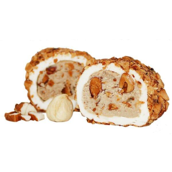 Turkish Delight Vanille mit cremiger Haselnussfüllung umhüllt von gehackten Mandeln