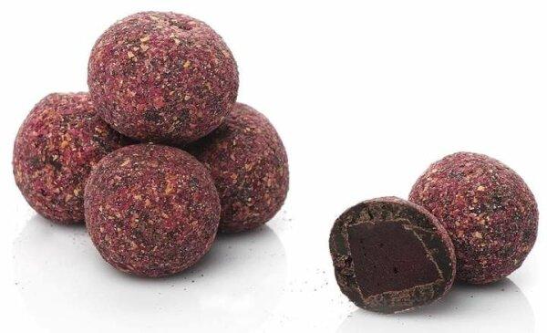 Turkish Delight Atom-Kugeln mit Schokolade umhüllt von Rosenpuder