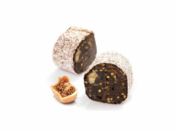 Turkish Delight Feigen mit Walnüssen umhüllt von Kokosnussraspeln