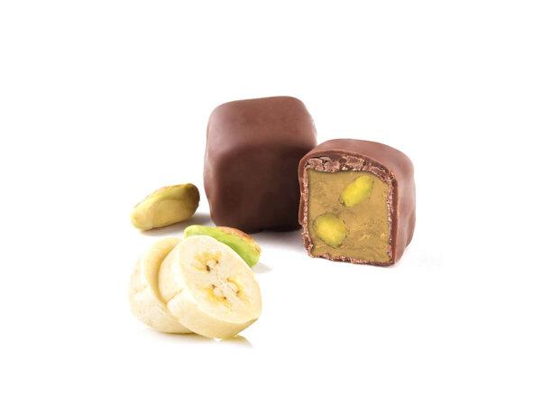 Turkish Delight Bananen mit Pistazien umhüllt von Schokolade